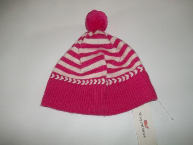 555522085bfa3 Vineyard Vines RHODODENDRON Stripe Knit HAT Beanie womens One Size  55 NEW