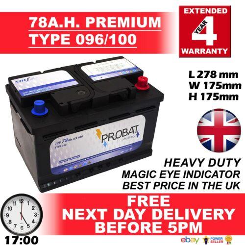 Eline ** 096 Bmw Serie 5 E39 523i Bosch S4 azul batería de coche 096 12v Nuevo