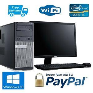 PC-DELL-4TH-generazione-MT-i5-4570-3-2GHZ-8GB-RAM-240-SSD-WIN10-Ufficio-Wi-Fi-22-034-LCD