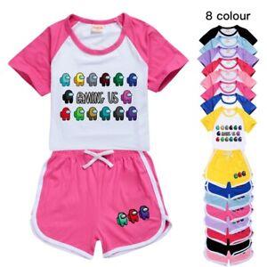 Kids Among Us Game Merch T Shirt Shorts Casual Sports Tracksuit 2pcs Set Uk Ebay