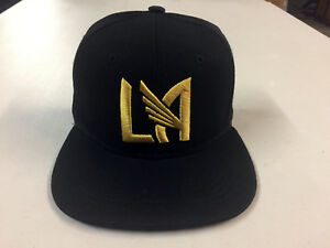 4832dc70fc41c Details about Los Angeles FC Snap Back Cap Hat LAFC Embroidered Adjustable  Football Club