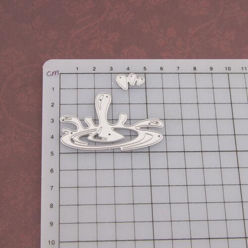 Water droplet Metal Cutting Dies Stencil Scrapbooking Paper Card Embossing YECF