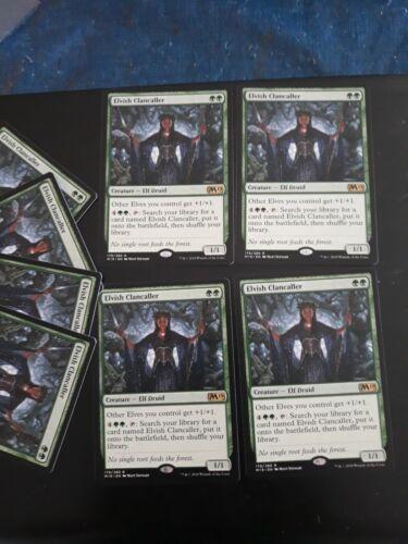 Core Set 19 Magic the Gathering Elvish Clancaller x4 MTG