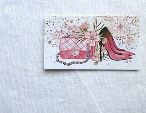 Details about 200 PRICE TAGS HANG TAGS BOUTIQUE TAGS CUTE SHOES AND HANDBAG  PLASTIC LOOP