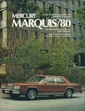 Mercury Marquis 1980 USA Market Sales Brochure Grand Brougham Wagon