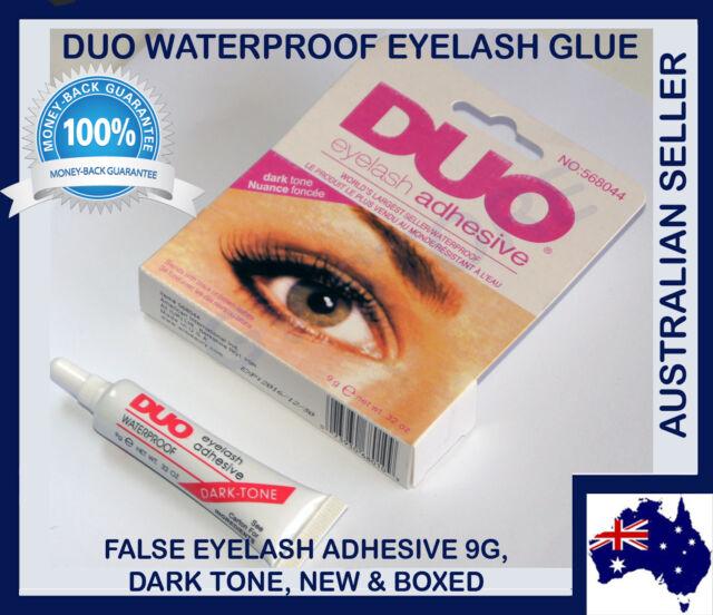 DUO Waterproof Eyelash Glue False Eyelash Adhesive Dark Tone Dries Black-Unboxed