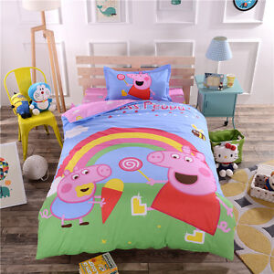 Image Is Loading Peppa Pig Single King Size Bed Quilt