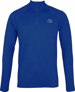 More-Mile-Train-To-Run-Mens-Long-Sleeve-Half-Zip-Running-Top-Blue