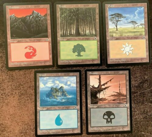 Portal Land Set x5 MTG Magic the Gathering Unplayed 1 of Each Color Mana