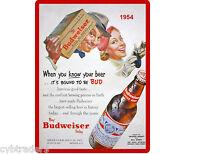 1954 Budweiser Beer Refrigerator / Tool Box Magnet Repro