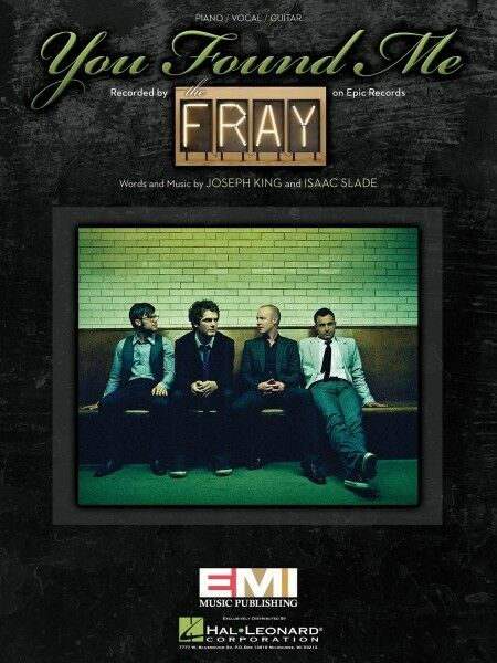 You Found Me Sheet Music Piano Vocal The Fray 000353906 Ebay