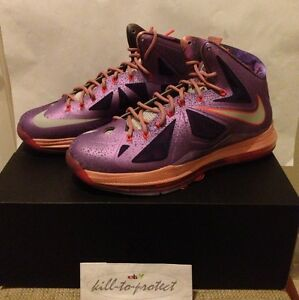 check out c3dc6 d5582 Image is loading NIKE-LEBRON-X-10-EXTRATERRESTRIAL-Sz-US13-UK12-