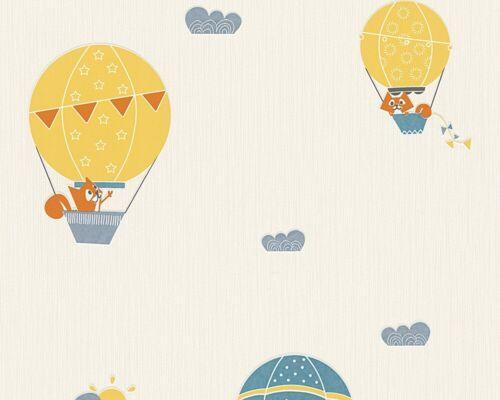 2,60€//1qm Esprit Kids Kinder Tapete Tiere Ballon blau creme Vliestapete 30295-2