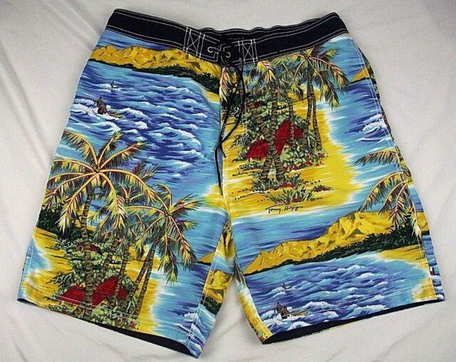 Tommy Hilfiger Mens XL Swim Trunk Board Shorts Hawaiian Beach Surfers Ocean a10a87d6be5e