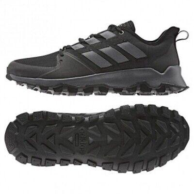 Mens Adidas Kanadia Trail Black Sport Athletic Running Shoes F36056 Size 9 12 | eBay