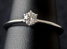 Tiffany & Co Platinum 0.26 CTW Brilliant Cut Diamond Solitare Ring w/Certificate