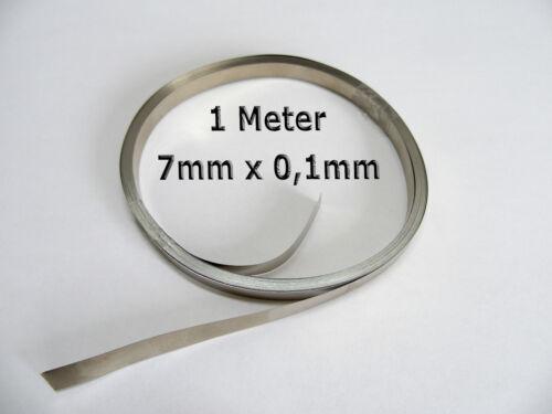 1Meter 7mm x 0.1mm />99,5/% Nickelband Akkuverbinder Lötfahnen Hiluminband