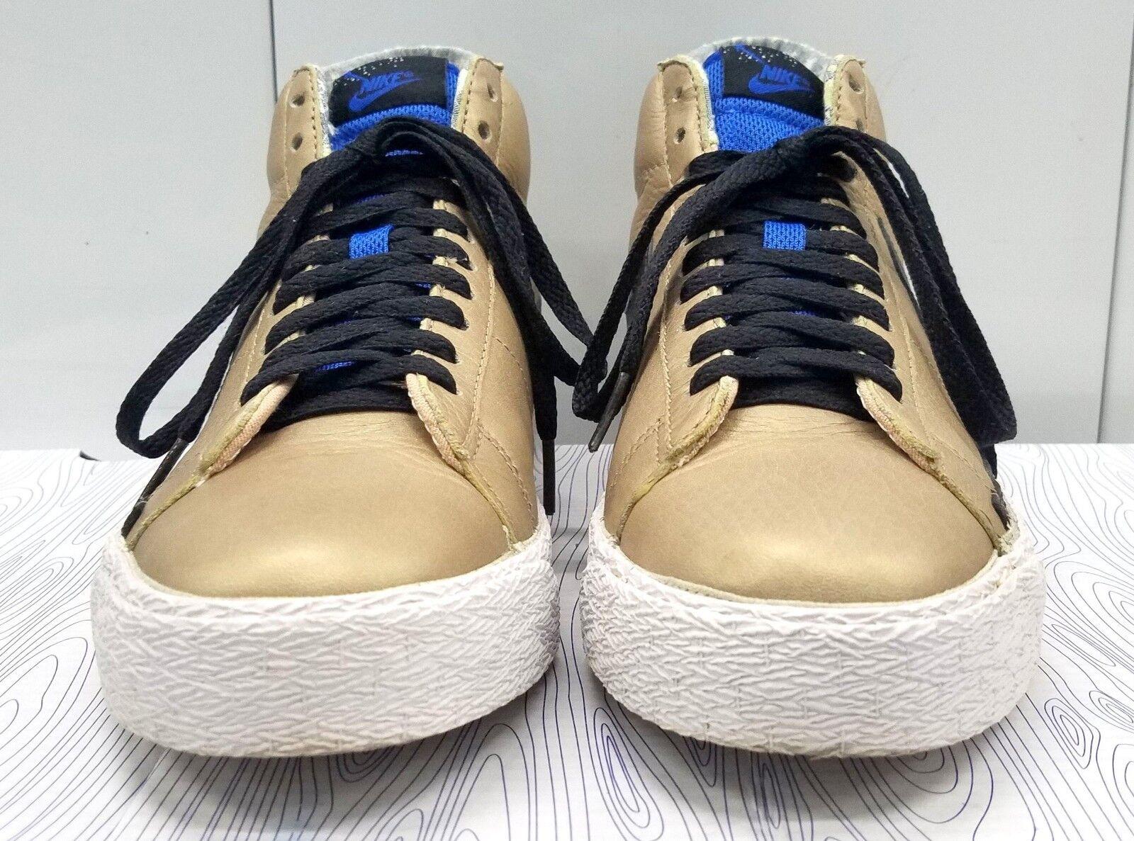 nike sb blazer high männer 7,5  gold / blau schwarz / weiß / blau /  316397-901 2007 abf121