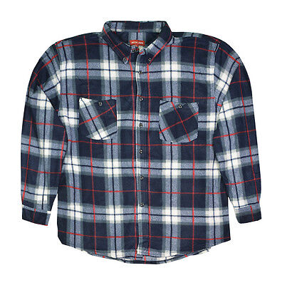 Hazy Blue Mens Warm Long Sleeve Fully Fleece Lined Country Check Shirt S-3XL