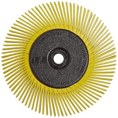 SCOTCH-BRITE 61500151461 Radial Bristle Brush,T-A,6 Diax1//2 W,50G