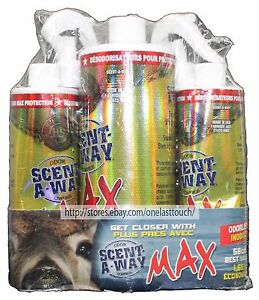 3pc-HUNTER-039-S-SPECIALTIES-56-oz-SCENT-A-WAY-MAX-Odor-Control-MADE-IN-USA-Odorless
