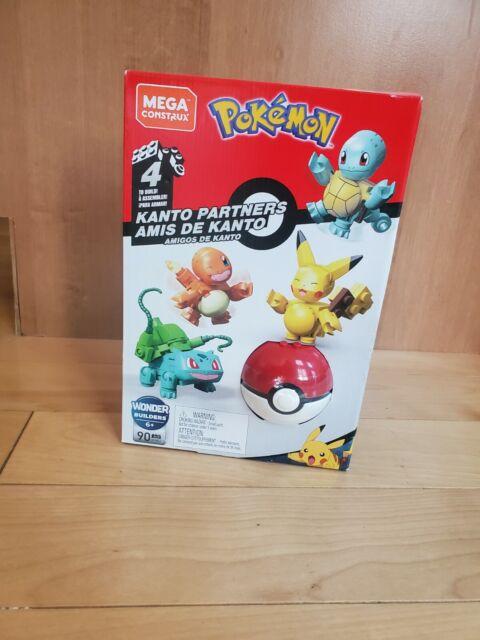 Pokemon Mega Construx Kanto Partners Pikachu, Charmander, Bulbasaur, & Squirtle