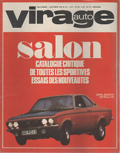 VIRAGE AUTO 1970 10 CATALOGUE SPORTIVES GP AUTRICHE RITTER MARATHON NURBURGRING