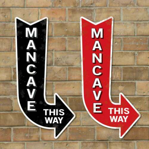 Mancave Arrow Sign Home Bar Sign Robust Cool Mancave Sign Outdoor Pub Sign