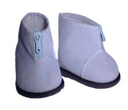 Blue Zip Up Ankle Boots Fits 18 inch American Girl Dolls