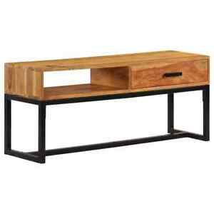 Acacia-Sideboard-TV-Unit-Rustic-Solid-Wood-Storage-Cabinet-Industrial-Drawer-New