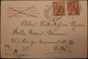 FLOREALE-CARTOLINA-RACCOMANDATA-CON-2-10C-DELL-039-11-04-1903-INUSUALE-TARIFFA