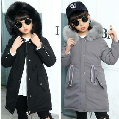 Kids Girl/'s Winter Thicken 100/% Cotton Coat Hooded Puffer Jacket Parka Outwear