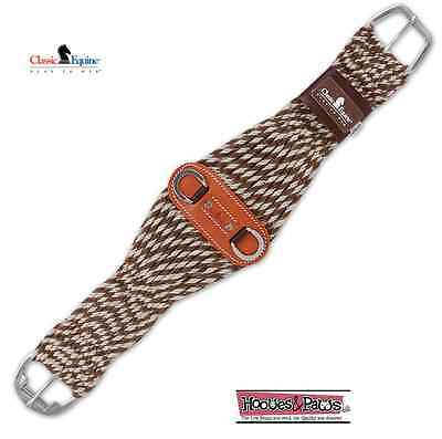 "Classic Equine SS Roller Buckle Mohair Alpaca MIX 30"" Roper Cinch Girth Horse"