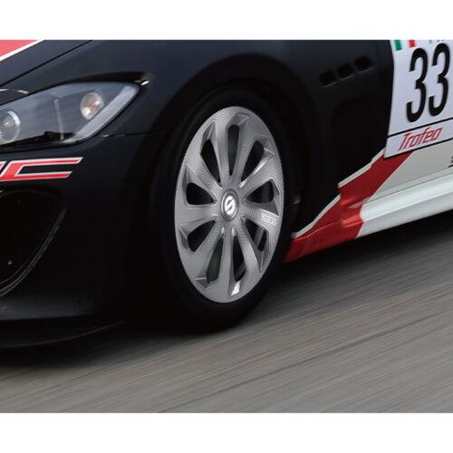 """4 Copricerchi auto universali SPARCO mod SICILIA PRO borchie 13/"""" grigio carbon"""