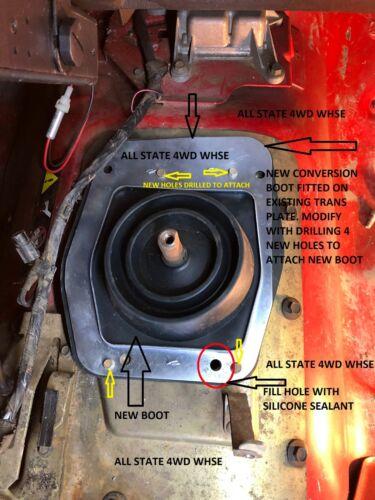 Conversion? Jeep Wrangler TJ Inner Shift Boot 2003-04  52109771AA 5-Spd Manual