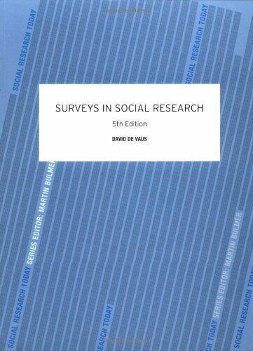 Surveys in Social Research von De Vaus , David