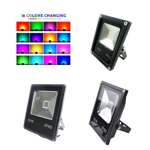 LED Flood Light RGB 85-265V Security Waterproof Building Safelight Spotlight