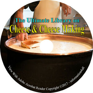 Cheese-amp-Cheese-Making-Ultimate-Library-on-CD-46-Books-How-to-Make