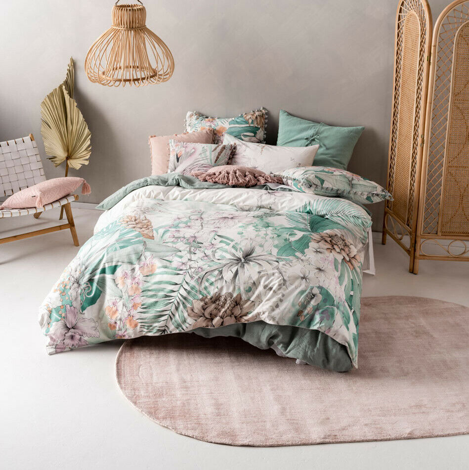 Brand New Linen House Lorena Queen Cotton Quilt Cover Set
