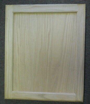 19x23 Unfinished Oak Flat Panel Door, Unfinished Oak Kitchen Cabinets Uk
