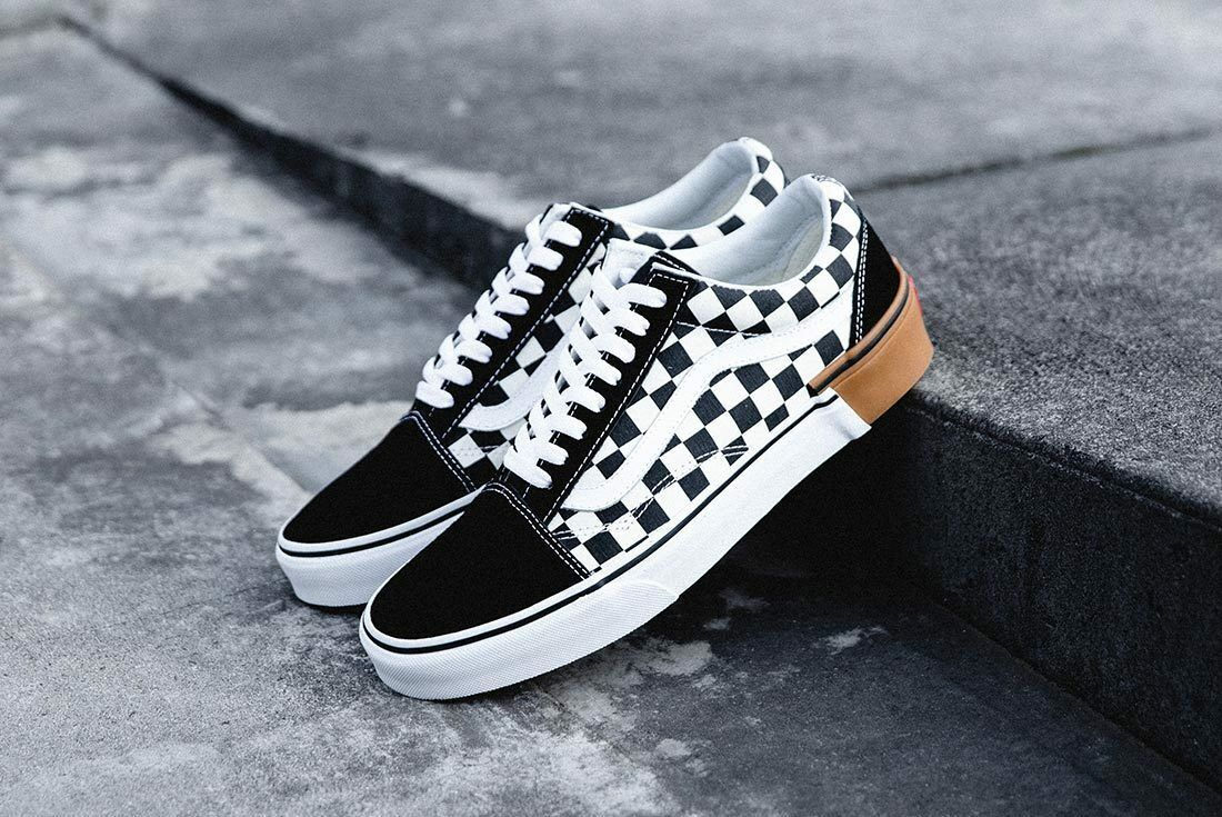 Vans OLD SKOOL Gum Block Checkerboard Men's shoes 8