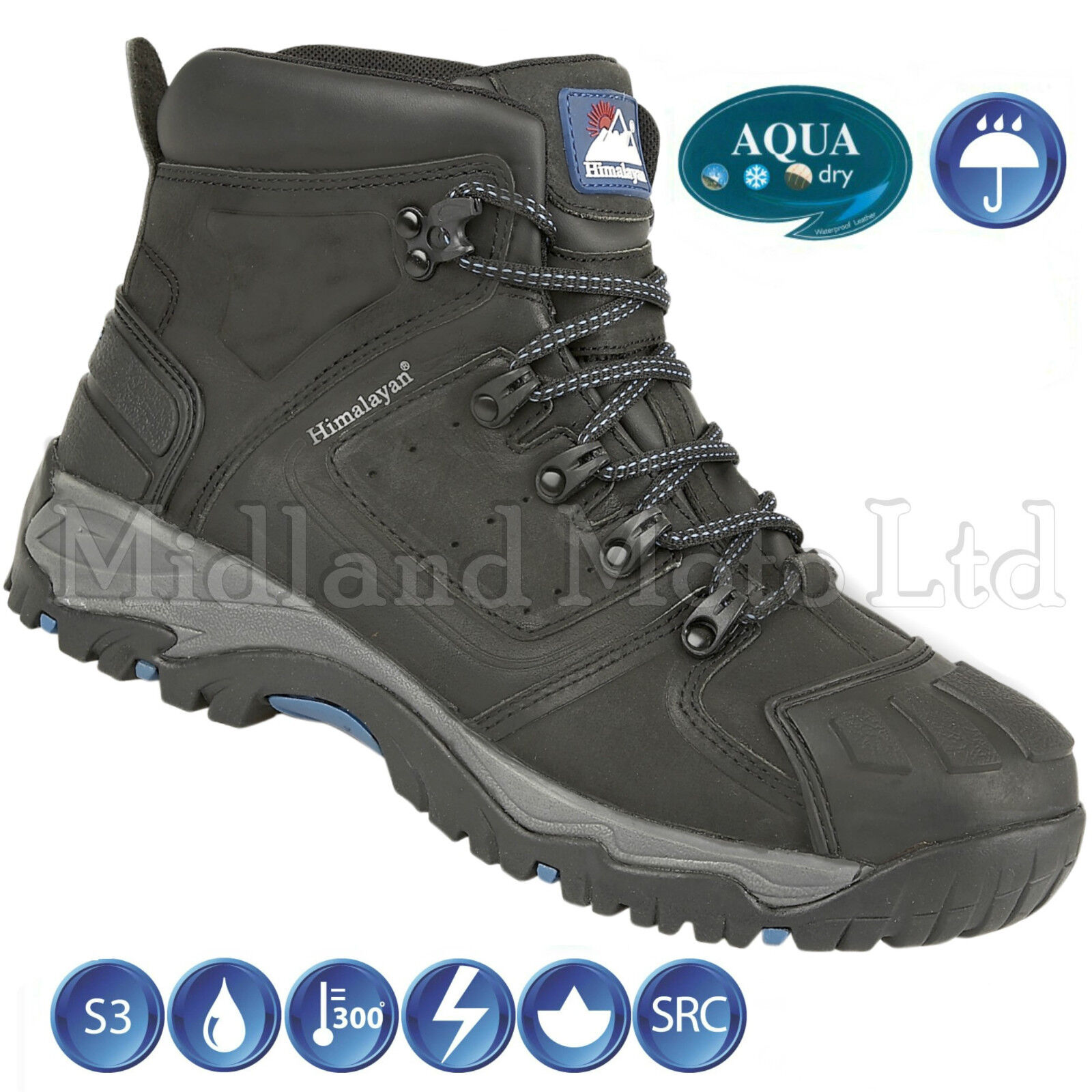 Waterproof Steel Toe Cap S3 5206 Nubuck Himalayan Safety Stiefel 5206 S3 9f80b5
