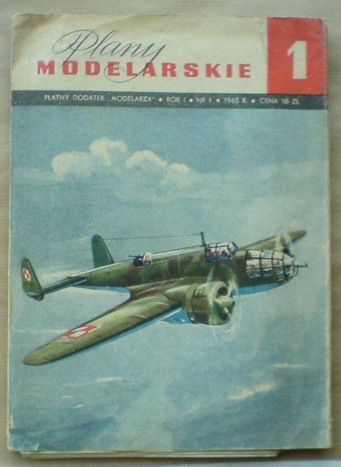 Plany Modelllarskie 1  samoMasse PZL 37 B Łoś (UNIKAT ) Polish aircraft LOS drawings