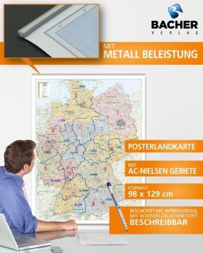 Deutschland PLZ 1:700.000 PosterkartedeutschNEU
