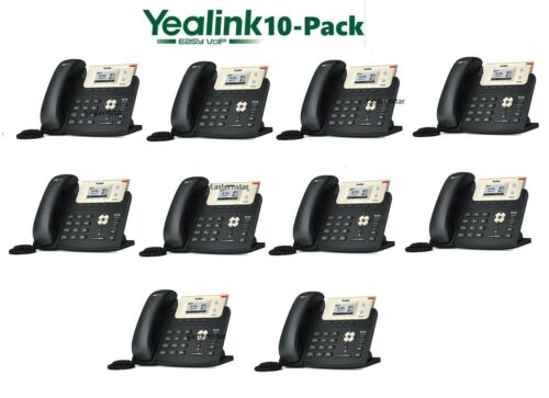 10 Yealink SIP-T21P-E2 Entry Level 2 Line IP Phone HD Voice PoE 10//100 T21P E2