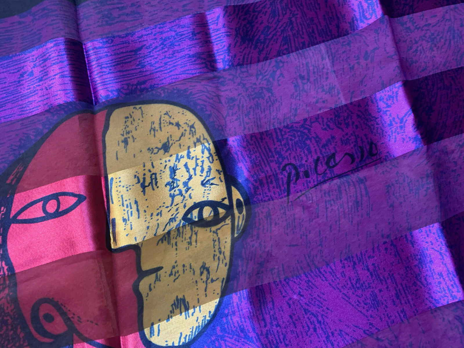 Picasso Silk feel Scarf Art Picture Scarf Wall Ha… - image 2