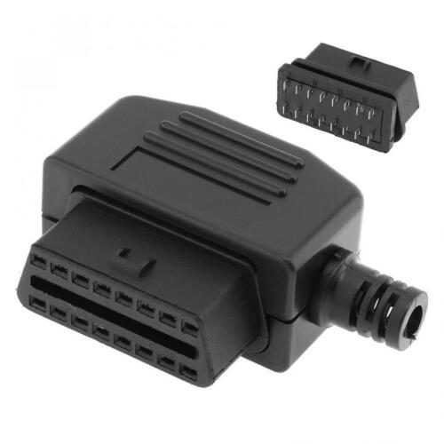OBD-II OBD2 L Type 16Pin Female Connector Wire Sockets Connector Plug + Shell