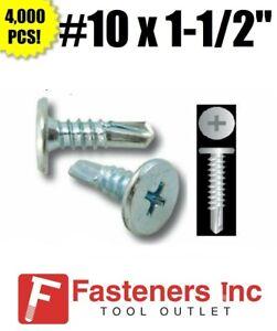 """INTERCORP H1012 #10 x 3//4/"""" Self Drilling Screw Hex Washer Head Zinc 8,000 BOX"""