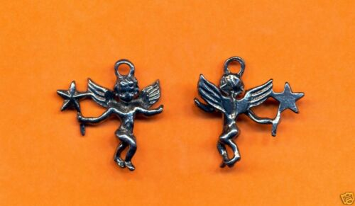 100 wholesale lead free pewter angel charms 1064