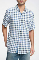 Men's Nat Nast breezin Silk Luxury Originals Aegean Blue Combo $140 Plaid
